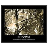 ADVANTUS Framed Motivational Print, Success, Sepia-Tone, 30 x 24 Inches, Black Frame (78161)