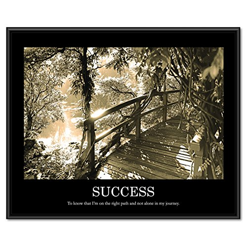 ADVANTUS Framed Motivational Print, Success, Sepia-Tone, 30 x 24 Inches, Black Frame (78161)