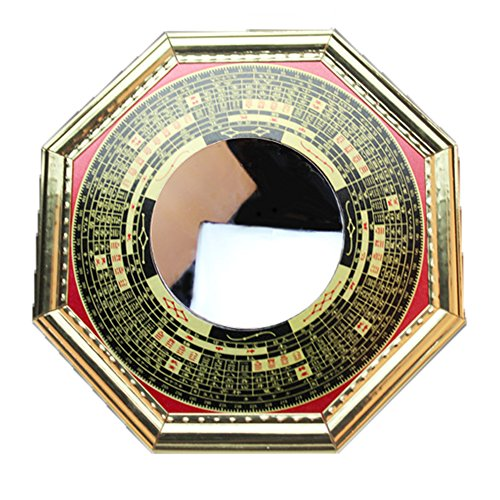 (FengShuiGe 4.6 Inch Chinese Feng Shui Bagua Mirror Concave for Inviting Money and Treasure Wealth Luckly)