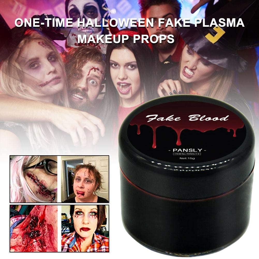 Halloween Makeup Zombie Makeup Face Body Paint Non-Toxic Fake Plasma Cosplay Blood Color Paint Wounds Scars Bruises Party Vampire Decorations Supplies One-time