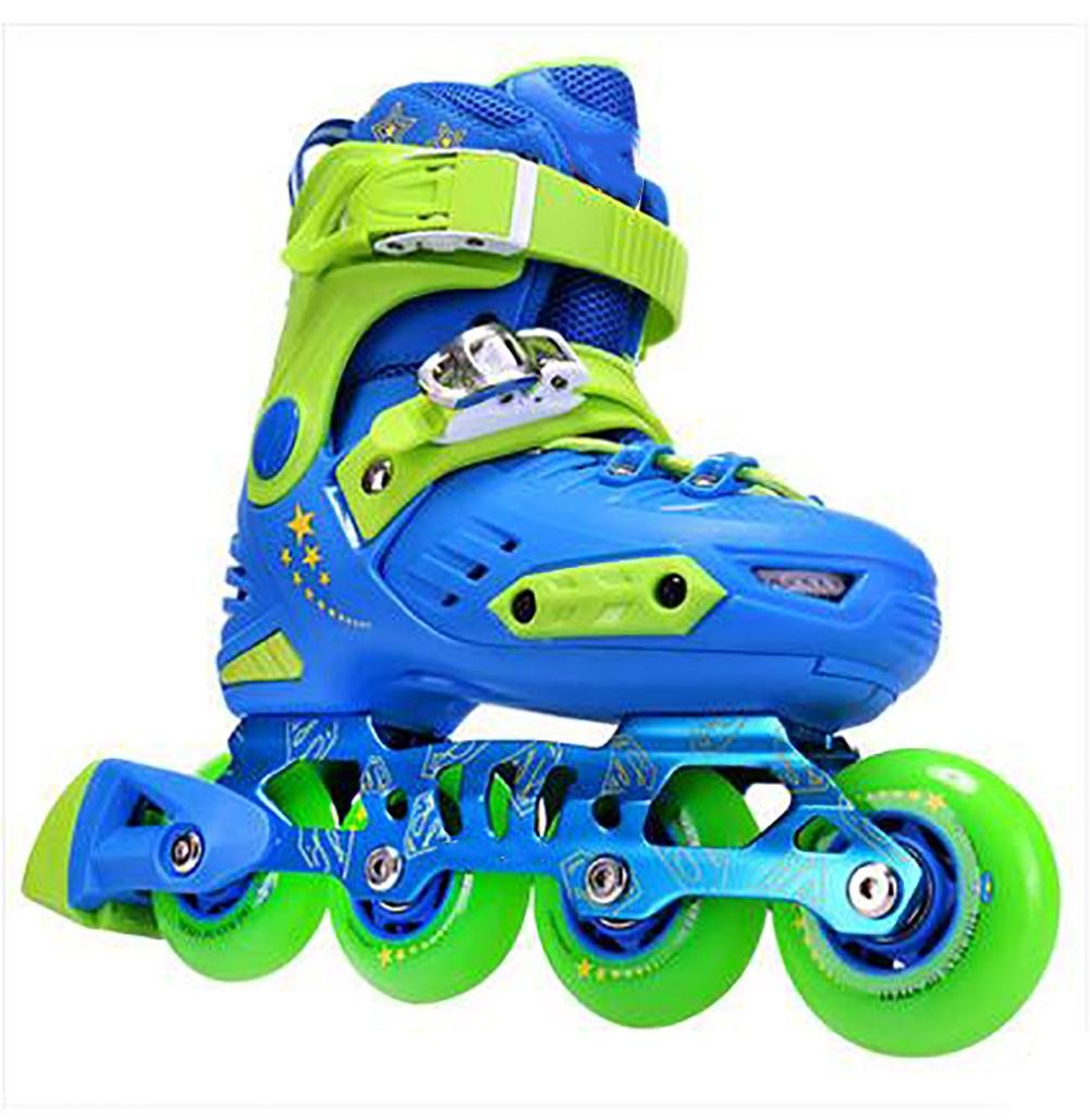 Inline Skates Adjustable ABEC-7 PU Wheels , blue , large by WY