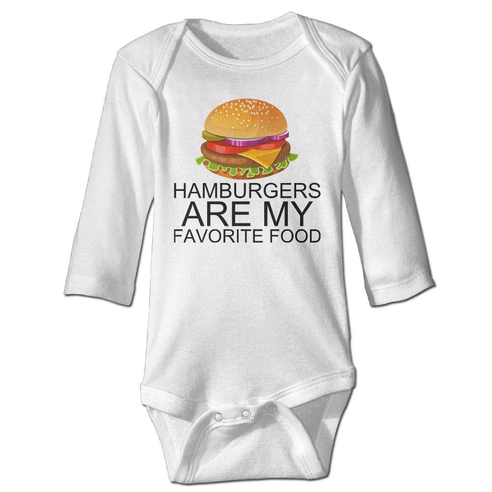 Amazon com: QTFGEW Hamburgers Are My Favorite Food  Newborn
