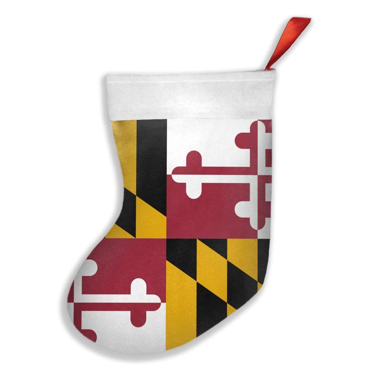 PO1 UP Flag of Maryland Christmas Stocking