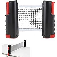 YUANXIASM Red de Tenis de Mesa Retráctil, Soporte de Ping Pong Telescópica Portátil para Mesa de Ping Pong, Escritorio…