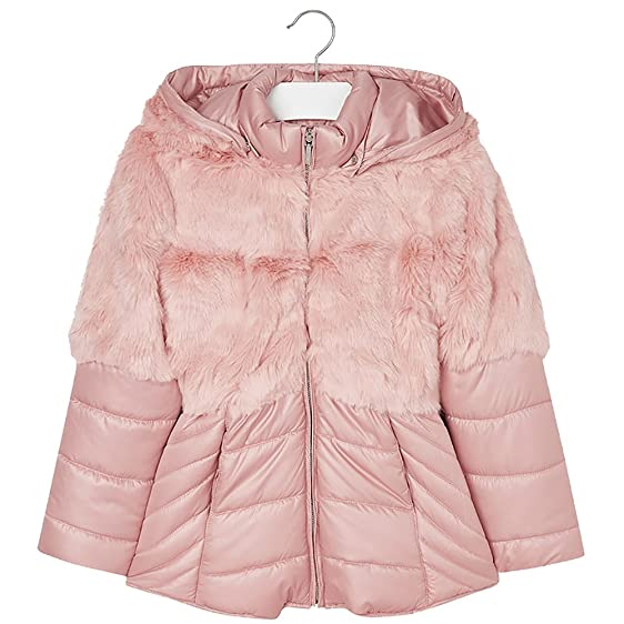 Amazon.com: Mayoral Tween Girls Dusty Rose Pink Combination Coat ...