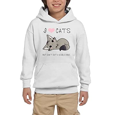 GYkl Cloth I Love Cats,But Can't Eat A Whole One Youth Funny Colorful Sweatshirts Long Sleeve Graphic Hoodies Sweatshirt