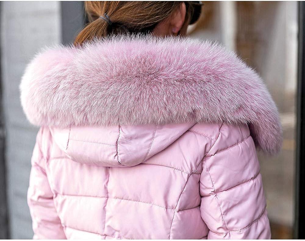 WYTong New Arrival Slim Down Coat,Women Winter Warm Zipper Jacket Fur Collar Hooded Pockets Parka Outwear