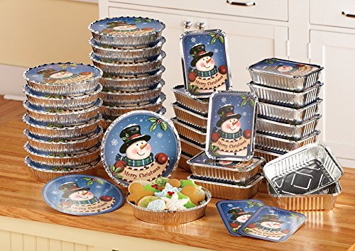 Christmas Snowman Foil Treat Containers - 36 pc (Holiday Treat Containers compare prices)