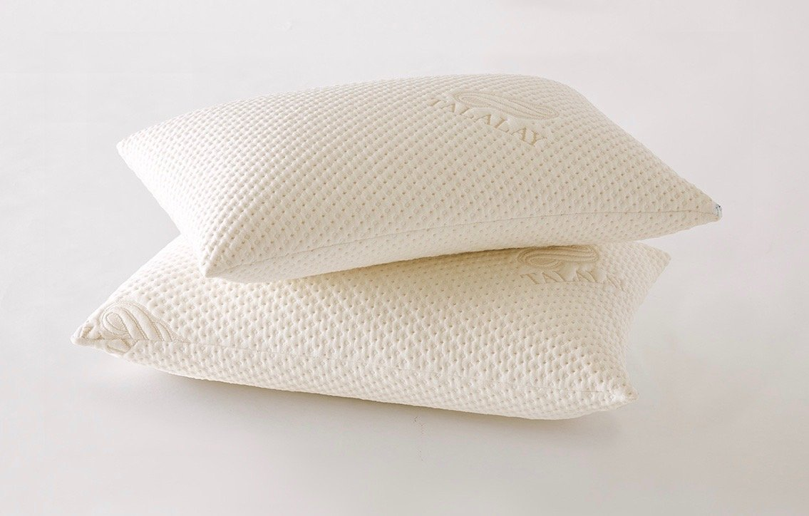 The Talalay Pillow - Standard Size - Two Pack Special Offer -- All Natural Talalay Made in USA