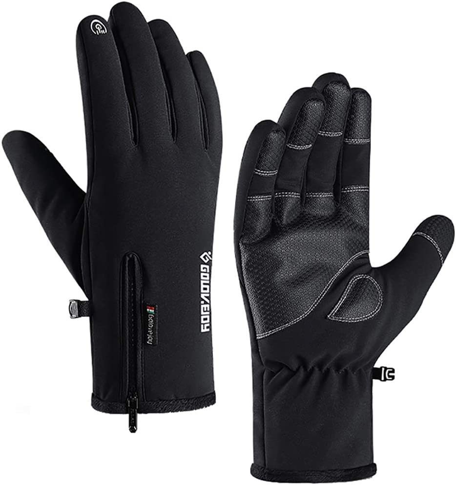 Goture Winter Motorcycle Gloves,Carbon Knuckle Protection Touchscreen Waterproof for Riding//ATV//UTV//Scooter//Snowmobile Smaller than normal size