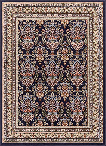 Well Woven PA-34-7 Persa Shiraz Traditional Panel Black Area Rug 7'10