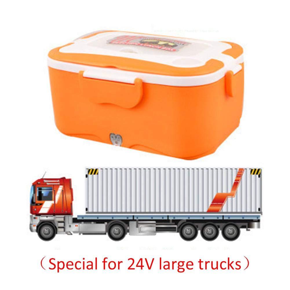 Calentador de almuerzo port/átil Gereton 1,5 L, 12 V//24 V, para uso en coches, fiambrera el/éctrica, calentador de alimentos con recipiente de acero inoxidable 304 extra/íble