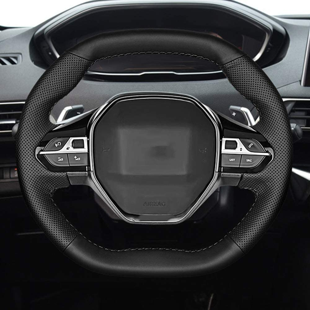 Cubiertas de la direcci/ón para Peugeot 3008 4008 5008 2016 2019 508 208 2019 2020 e 208 Rifter LINBUDAO Accesorios de la Cubierta del Volante
