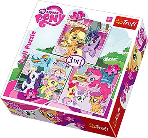 Trefl - 34190 - Puzzle - 3 en 1 - My Little Pony - Rainbowdash et Fluttershy Puzzle Classique