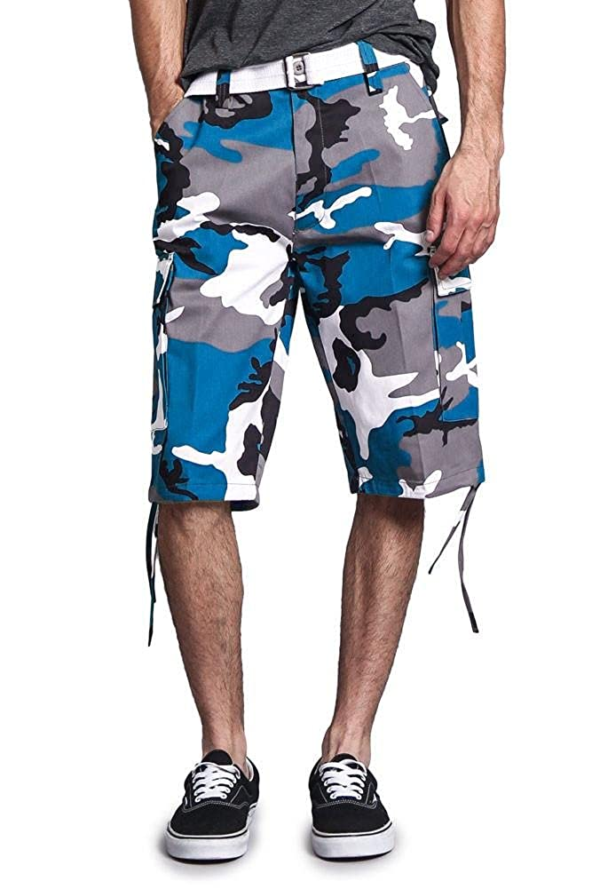 G-Style USA Men's Belted Camo Cargo Shorts