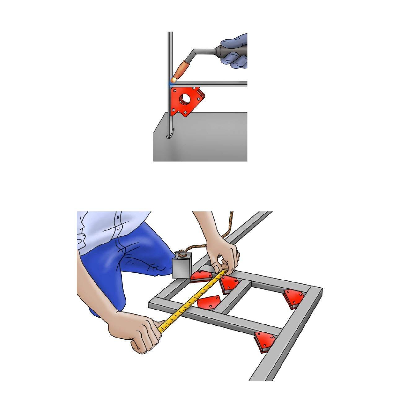 Welding Magnet 75mm Strong 18lb Magnetic Angled Soldering Metal Work Holder