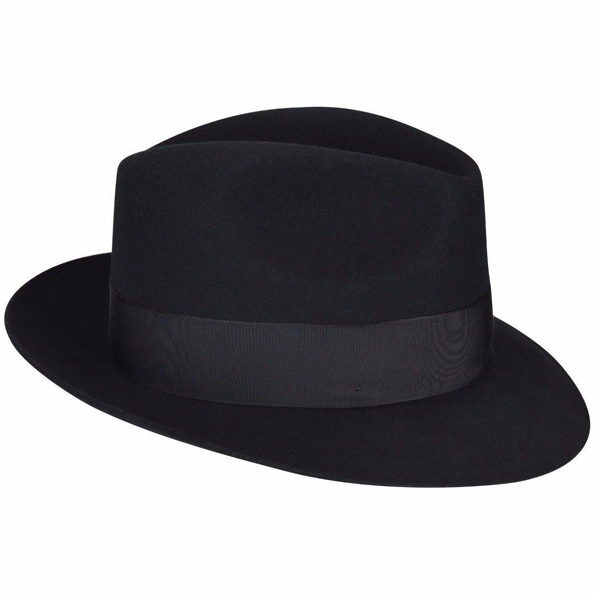 b24771b3b7b59 Bailey of Hollywood Men Gangster Fedora at Amazon Men s Clothing store