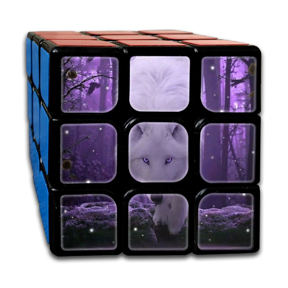 AVABAODAN Purple Eyes Wolf Rubik's Cube 3D Printed 3x3x3 Magic Square Puzzles Game Portable Toys-Anti Stress For Anti-anxiety Adults Kids
