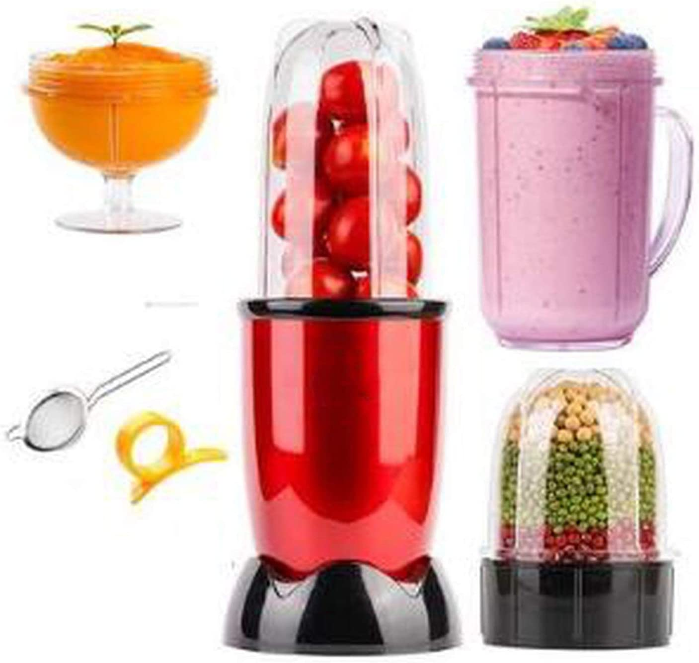 220V Electric Juicer Mini Household Automatic Juicer Machine High Quality Mini Juicer EU/AU/UK Plug,4 cups 3 blades