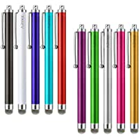 Stylus Pen, ARYKX 10 Pack of Fiber Mesh Tip Stylus for Touchscreen Devices Universal Precision Stylus Pen for iPhone, iPad, Kindle, Apple iPad Air 1 & 2, iPad 3, iPad Pro, Tablet, Smartphones