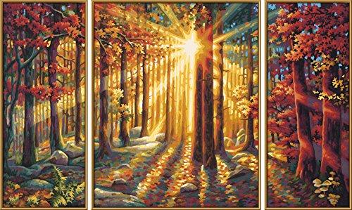 Schipper 609260688 Malen Nach Zahlen Herbstwald Triptychon 50 X