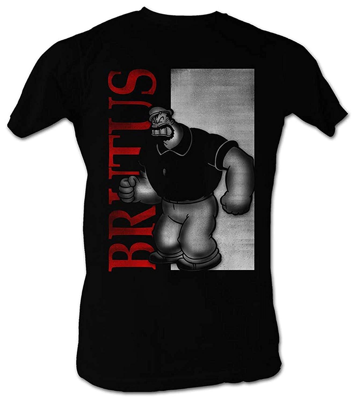 A E Designs Popeye T Shirt Scar Brutus Bluto Adult Black T