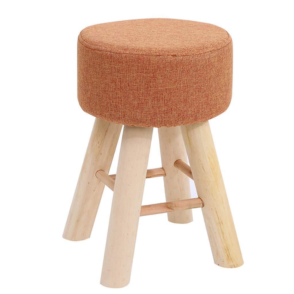 Sofá tapizado para niños Piernas de madera alrededor de 4 patas de lino extraíble para el hogar interior exterior exterior jardín naranja 29x35 LIXIANG