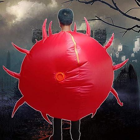 Accessori Divertenti del Costume Operato della Tuta di Esplosione Divertente di Halloween mayDONG Tuta Costume Gonfiabile del Virus dellepidemia della novit/à per ladulto