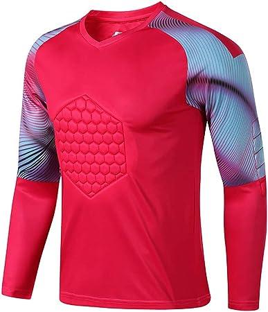 Fútbol Anti Choques Uniforme Portero Camisa Dragón Manga Larga Protector Pecho Soporte Codo (Color : Red, Size : XL): Amazon.es: Hogar