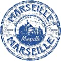 "Marseille France Travel Grunge Stamp Sticker Decal Design 5"" X 5"""