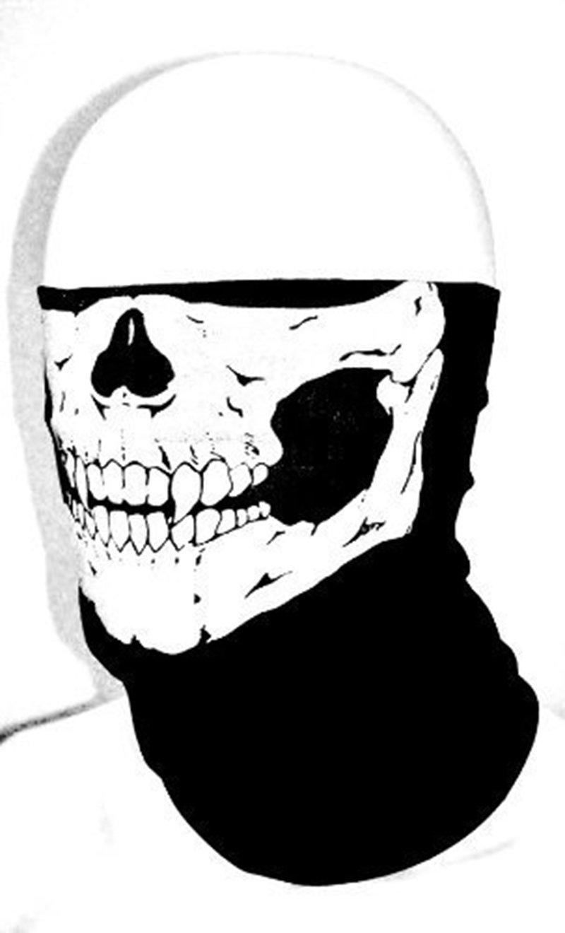 amazing-trading New Skull Skeleton Biker Motorcycle Neck Warmer Mask vicious Bandana L-FENG-UK