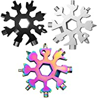 3 Pack Snowflake 18-in-1 Multi Tool, Stainless Steel Snowflake Bottle Opener/Flat Phillips Screwdriver Kit/Wrench…