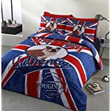 Home Bedding Store British Bulldog Authentic Designer Bedding Duvet Cover Set, Single by Velosso