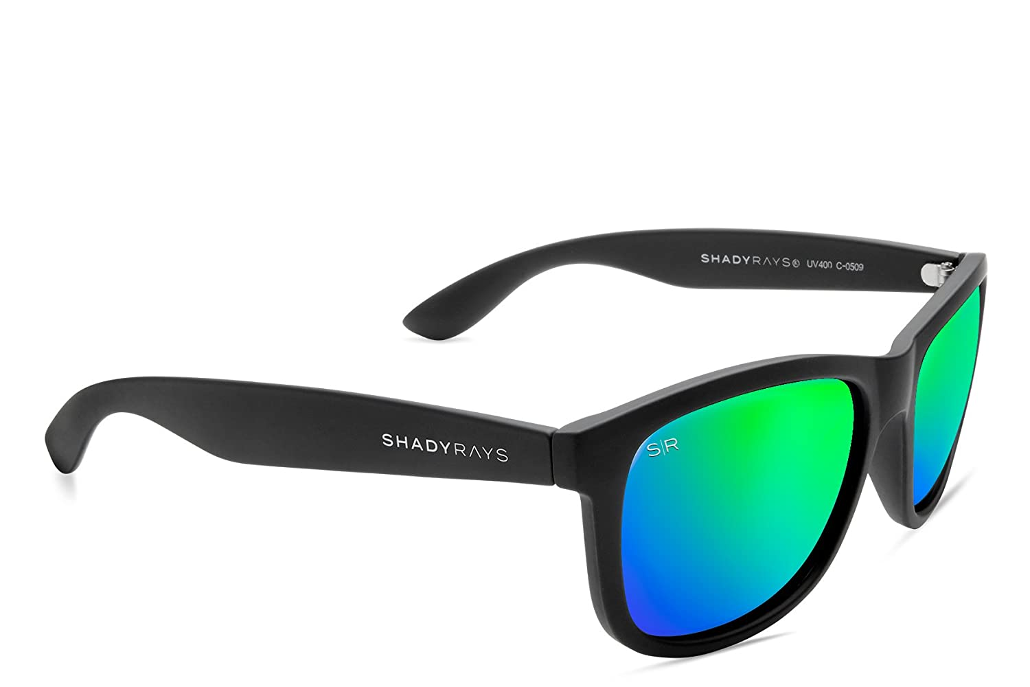 0cd610acdf362 Amazon.com  Shady Rays Signature Series Polarized Sunglasses Black ...