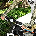 Happy Hours - Flexible Outdoor Sunproof Cuffs / Riding Fishing Thin Breathable Long Gloves / Ice Silk Summer Driving Hiking UV Proof Soft Arm Sleeves / Silicon Palm Half Finger Hand Cover(Multicolor)