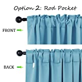 NICETOWN Window Treatment Solid Blackout Curtains - (Teal Blue Color) 70x84 inch, 2 Panels, Blackout Drapery Panels for Kids Bedroom
