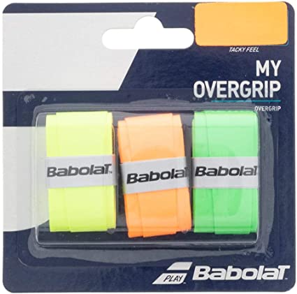 THREE NEW OVERGRIP SET OF 3  BLACK BABOLAT MY GRIP OVER GRIP FOR TENNIS