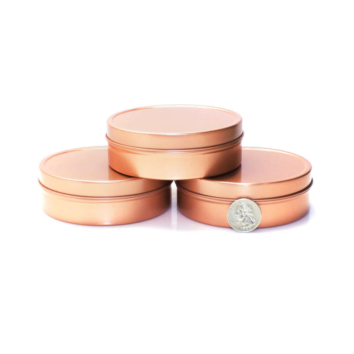 Mimi Pack ALL Shallow Solid Slip Top Tins (8 oz, Rose Gold) by Mimi Pack (Image #4)