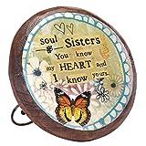 Demdaco Kelly Rae Roberts Sister Wood Carved Medallion