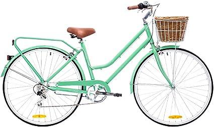 Reid Bicicleta Vintage Classic Lite 7 velocidades – Mujer – Verde Menta – Talla 52: Amazon.es: Coche y moto