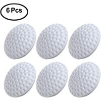 Door Handle Bumper Self-Adhesive Wall Protector Soft Round Door Knob Wall Shield Rubber Buffer Crash Pads Door Stoppers for Furniture Crafts Glass Table, Pack of 6, white