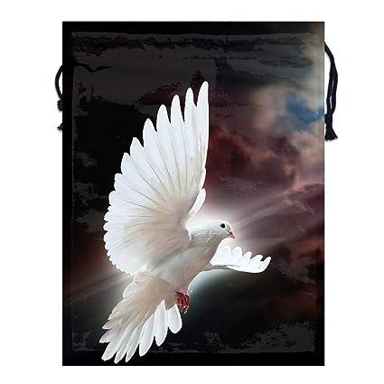 340986ace655 Amazon.com: Mintslove Portable Storage Bag Cute Dove Flying Art 3D ...