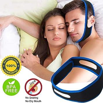 Anti Snoring Chin Strap & Jaw Support Belt - Adjustable Comfortable Chin  Strap, Effective Snoring