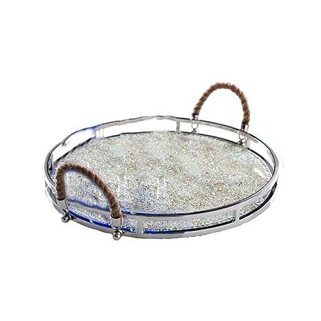 Amazon.com: Shiraleah Pórtico mosaico de vidrio Bandeja ...