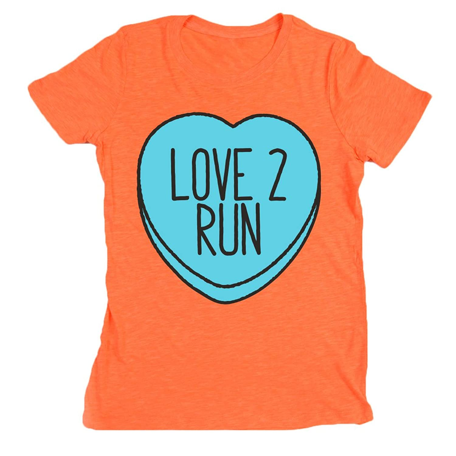 Gone For a Run Women's Neon Series Runners Tee Love 2 Run Candy