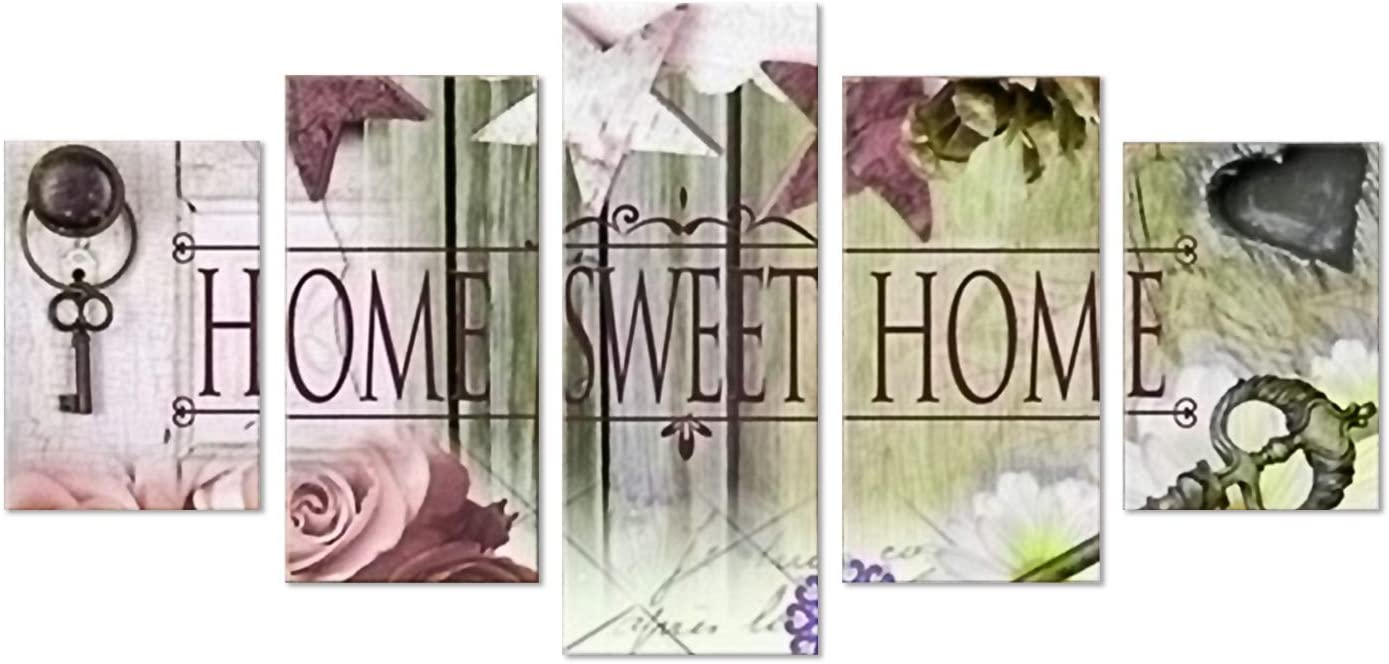 SuperDecor DIY 5D Diamond Painting Kits Full Drill Diamond Embroidery Stars Home Sweet Home Pattern by Number Kits for Adults and Kids Home Walls Decor