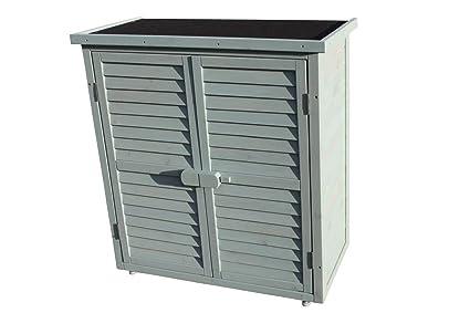 Cabina al aire libre para almacenaje de madera en el Jardín o cobertizo para herramientas -