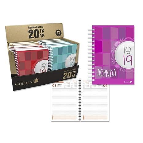 Librería Agenda Escolar (150X110) Dia Pagina T.Carton 18-19 ...