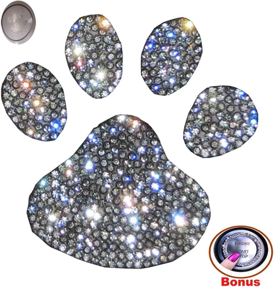 Forala Crystal Car Stickers Decorate Sparkling Cars Bumper Window Laptops Luggage Rhinestone Sticker (Footprint)