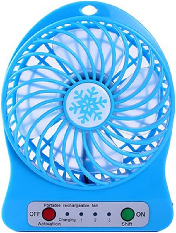 Shelfhx Universal Portable Rechargeable LED Fan air Cooler Mini Operated Desk USB Fan for PC Laptop Computer Color : White